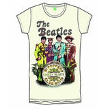 Official 'The Beatles' Sgt Pepper's Lonely Hearts Club Band' Band & Drum Ladies t-shirt (Natural)