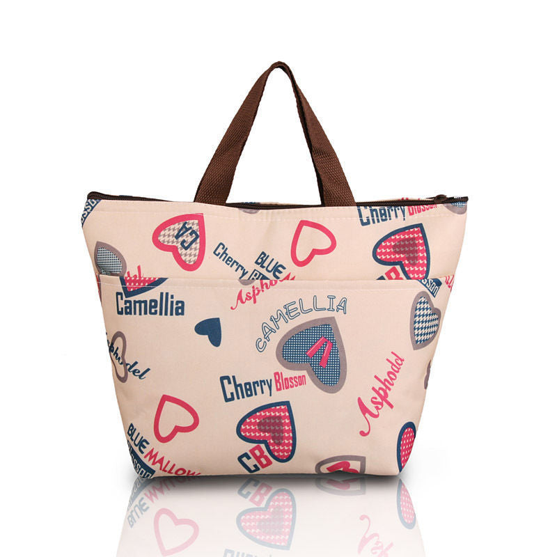 Love Hearts Lunch Bag Tote