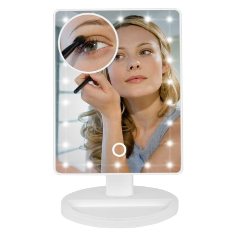 magnifying vanity mirror with lights
