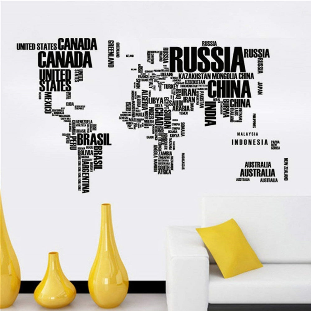 Letter Map Wall Art Sticker by Takefuns