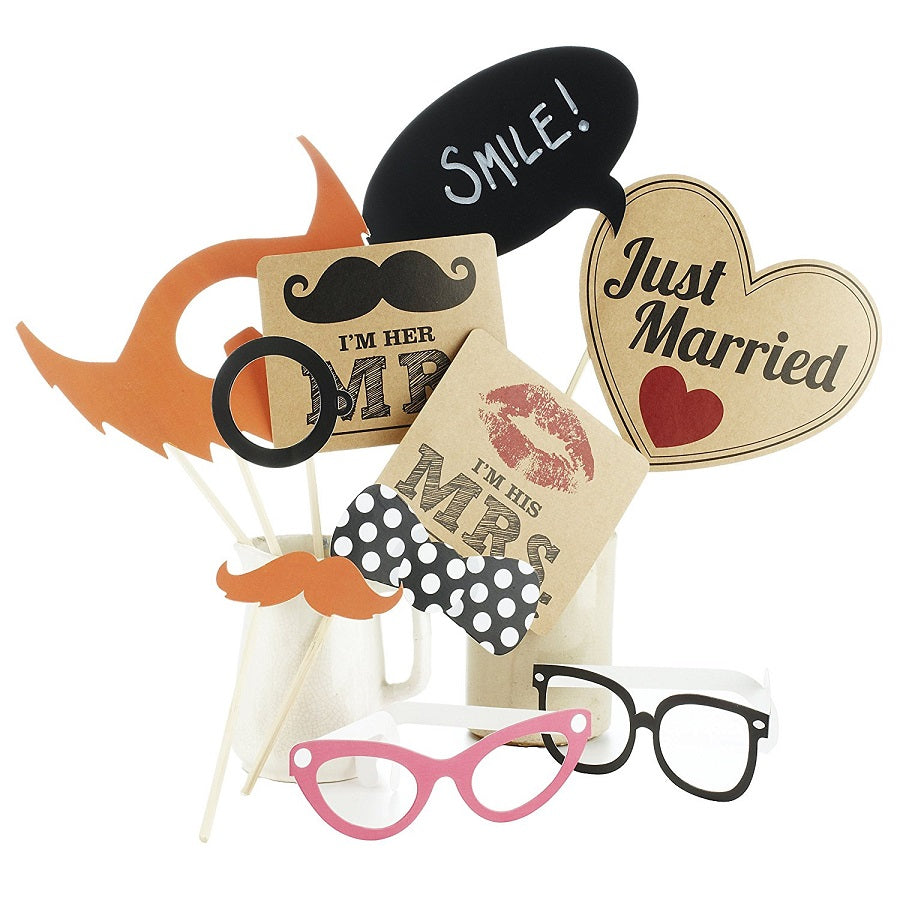 Just Married Photo Booth Kit by Ginger Ray