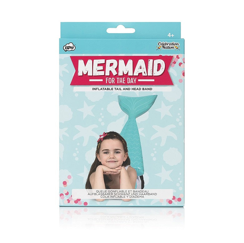 Mermaid For The Day Inflatable Tail & Headband Box
