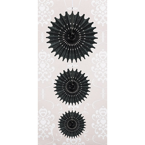 Black Tissue Paper Party Medallions by David Tutera