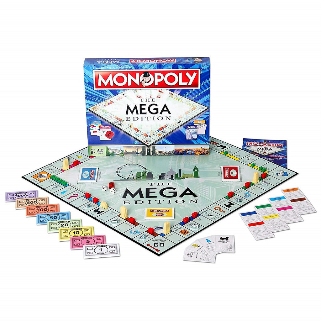Monopoly The Mega Edition Board Game Components