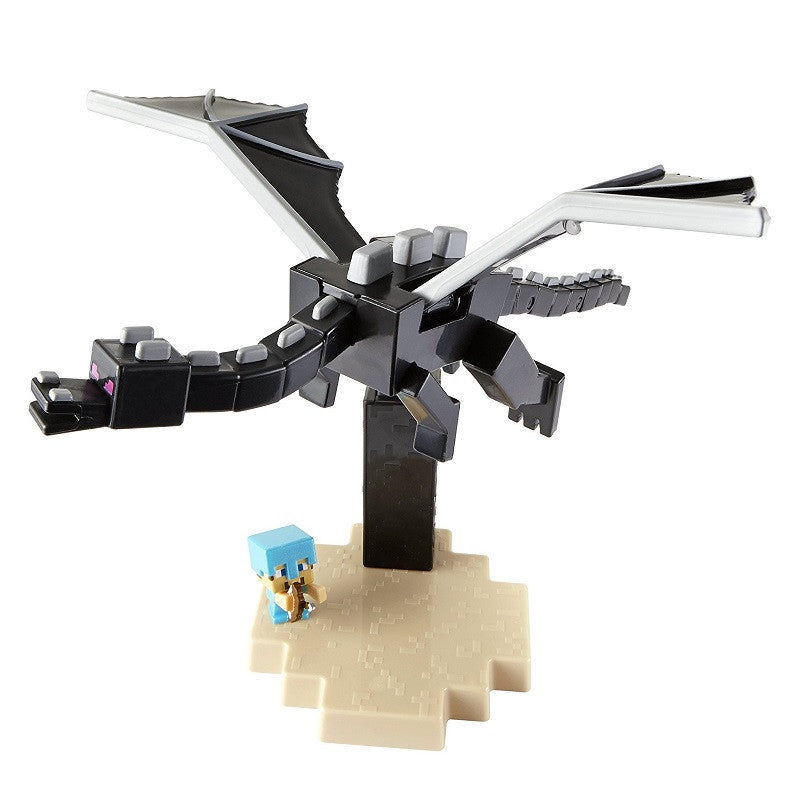 Minecraft Ender Dragon V Steve Figures