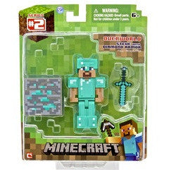 "Minecraft 3"" Diamond Steve Action Figure"