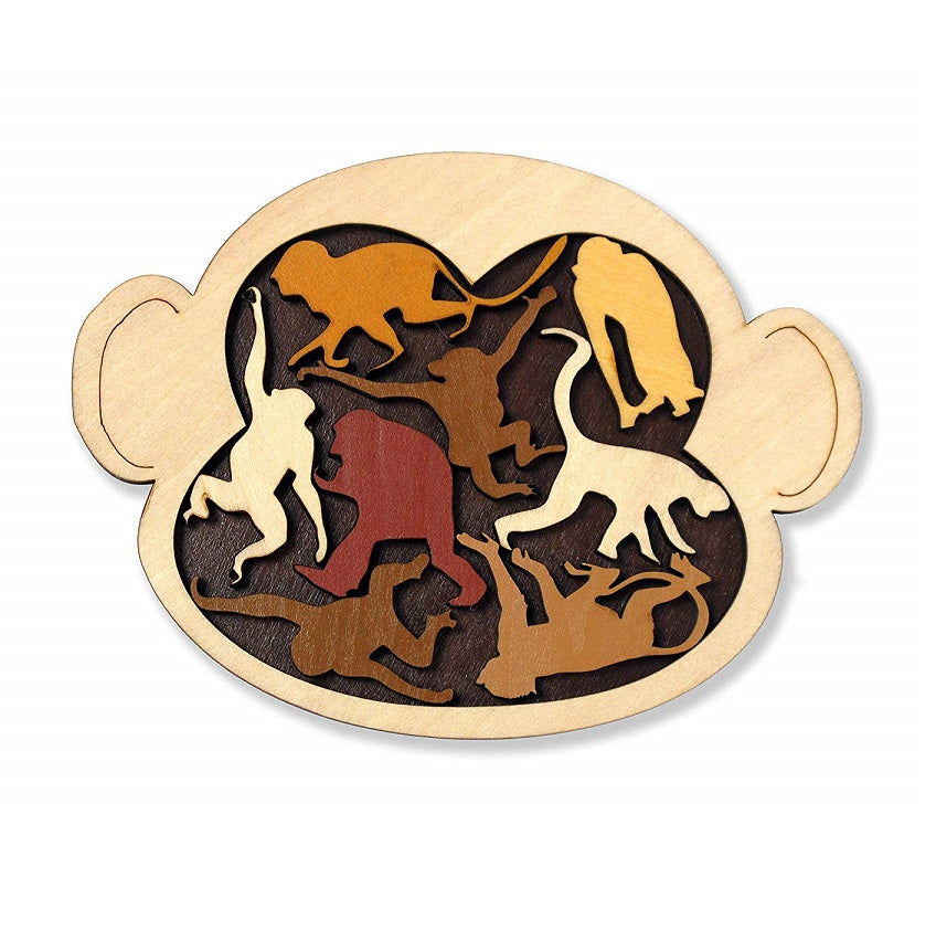 Monkey Madness Wooden Puzzle by Constanin Puzzles