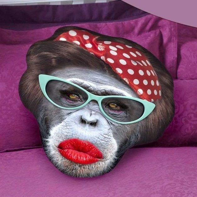 Realistic Rockabilly Monkey Cushion