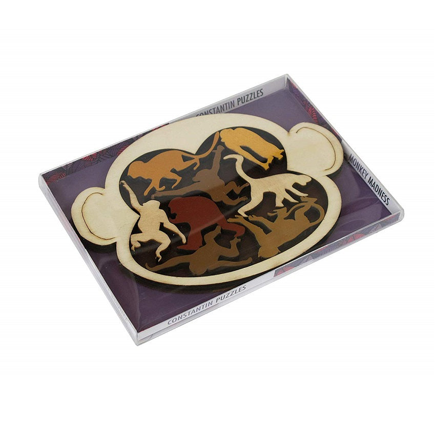 Monkey Madness Wooden Puzzle by Constanin Puzzles Box