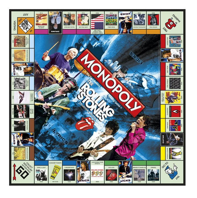Monopoly The Rolling Stones Collector's Edition Board Game Board
