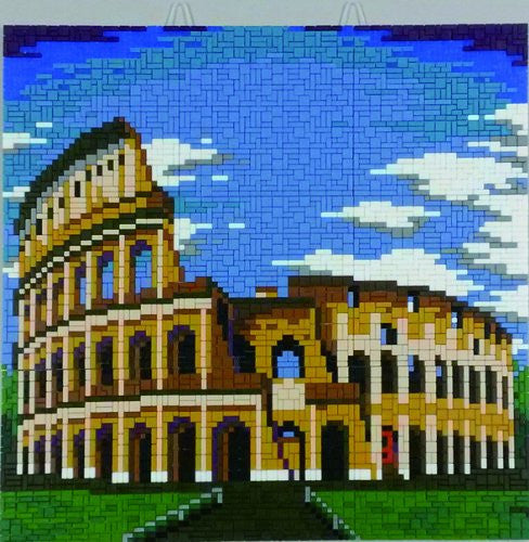 Kidicraft Mostaix Silver Ribbon Series Mosaic Art Kit (Colosseum)