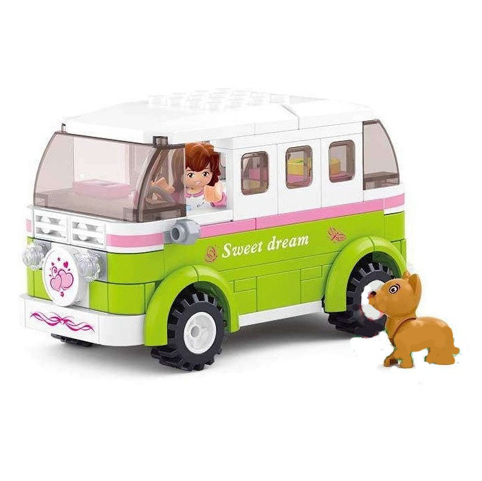 Sluban - Girl's Dream - Motorhome Building Bricks Set