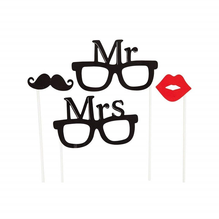 Mr & Mrs Photo Accessories Set