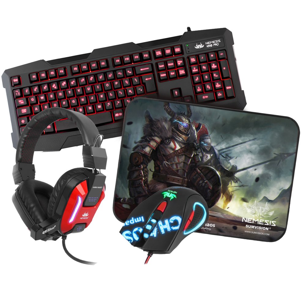 Sumvision Nemesis Kane Pro 4-In-1 Chaos Gaming Set