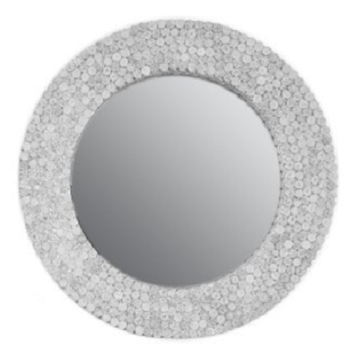 Black & White Paper Large Round Wall Mirror by Stone The Crows