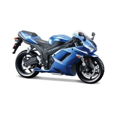 Kawasaki Ninja ZX-6R in blue model kit 1:12 scale from Maisto
