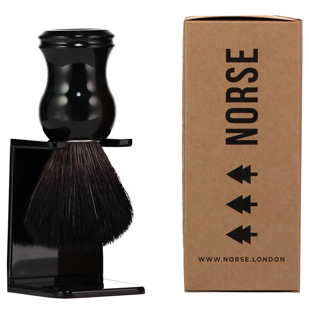 Norse Ebony Shaving Brush with Stand
