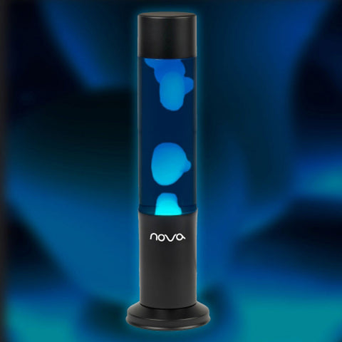 blue lava lamp with blue background