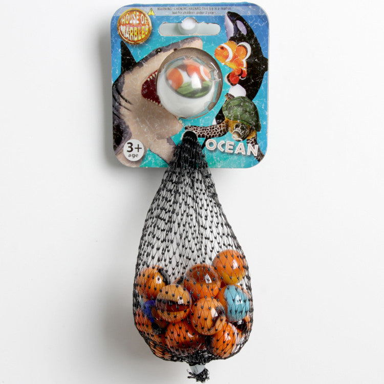 House of Marbles Ocean Clown Fish Net Bag of Marbles