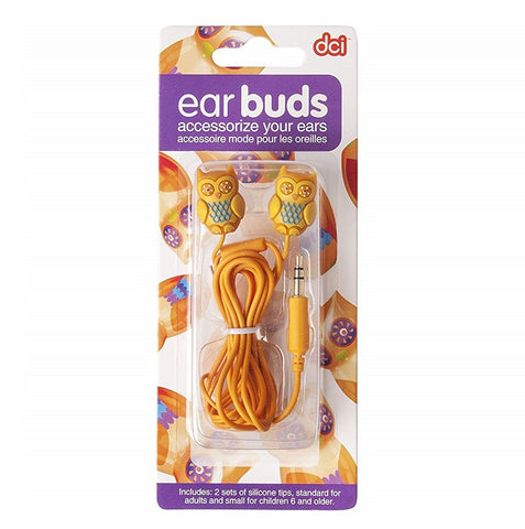 Owl Earbuds (Orange) by DCI Gifts