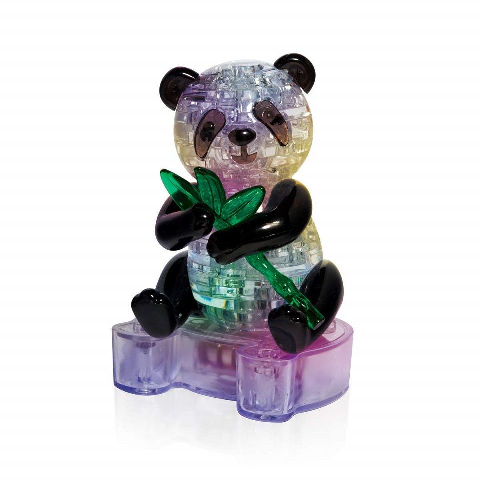 Panda 3D Crystal Puzzle with LED Stand by AddCore