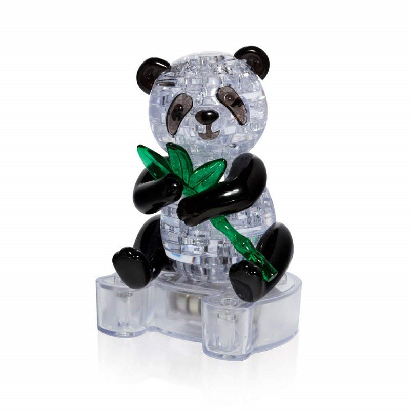 Panda 3D Crystal Puzzle with LED Stand