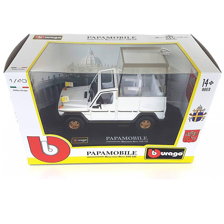 1:43 Mercedes Benz 230 GE Papamobile Pope Mobile Box