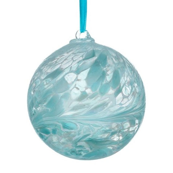 Pastel Blue 'It's A Boy' 10cm Glass Friendship Ball