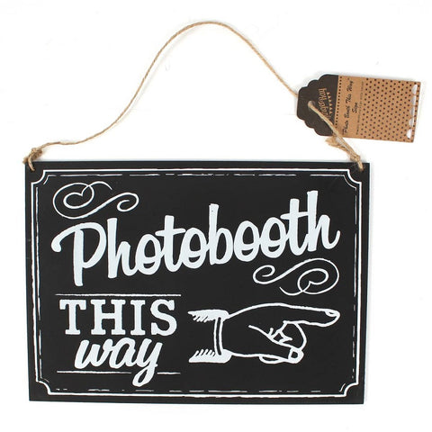 Photo Booth This Way Hanging Sign by Ginger Ray