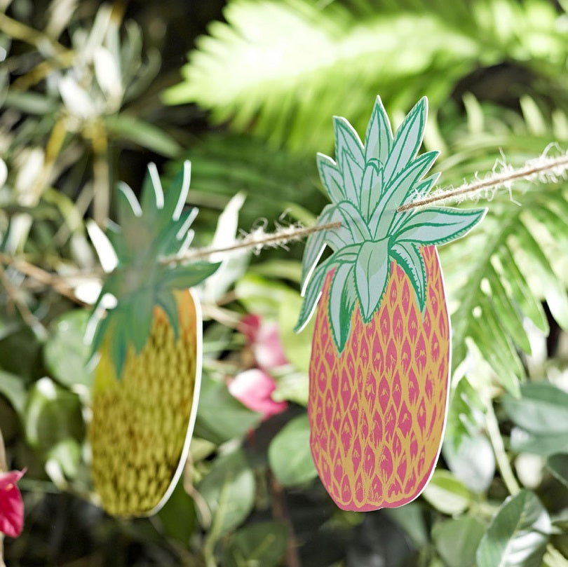 Tropical Fiesta Pineapple Bunting by Talking Tables