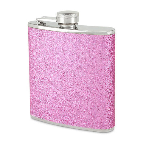 Blush Sparkletini Cosmo Pink Hip Flask