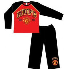 Manchester United FC Boy's Pyjamas (Red/Black/Gold)