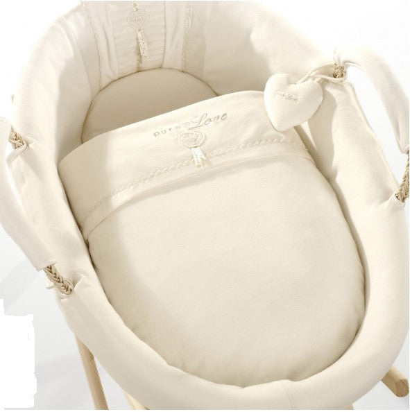 Natures Purest 'Pure Love' Moses Basket With Organic Dressings