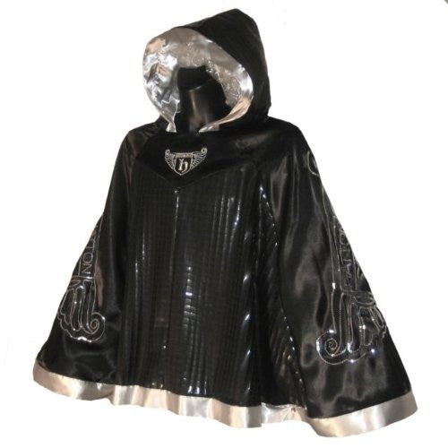 Hatton Boxing Shiny Fight Poncho - Black Small/Medium
