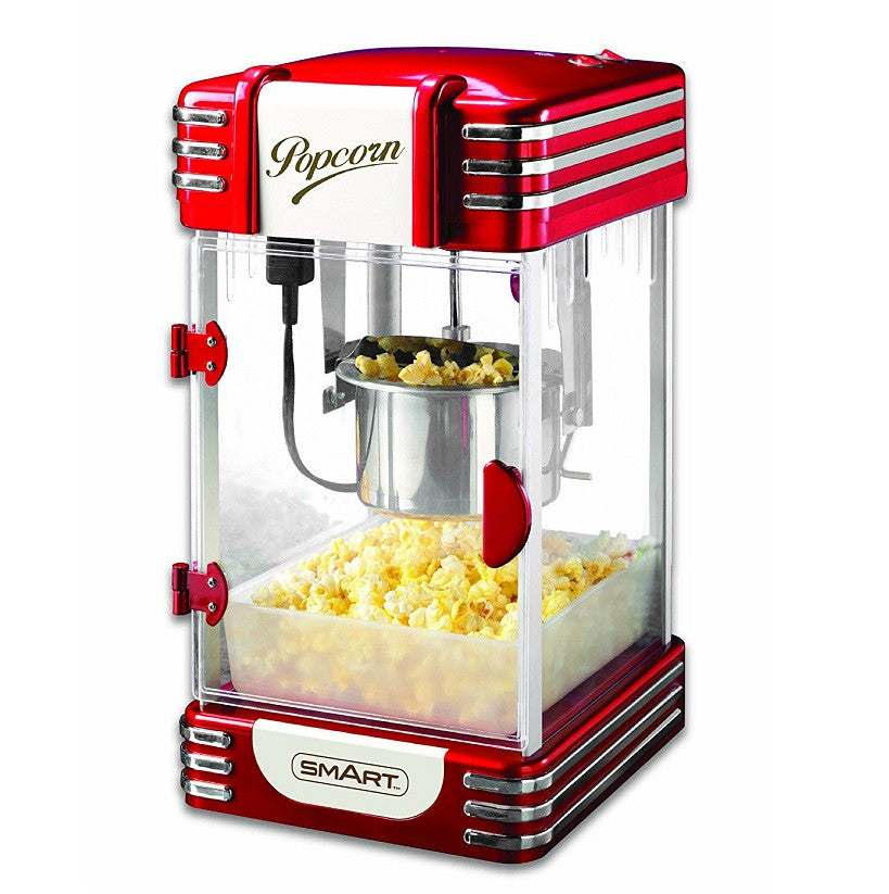 SMART Retro Kettle Popcorn Maker - Red