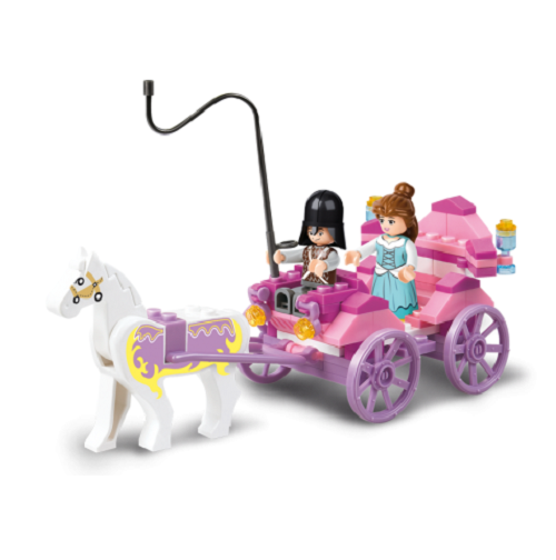 Sluban - Girl's Dream - Princess Carriage Building Bricks Set
