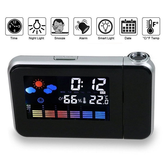 projector alarm clock that is a great gift for men, gift for kids, gift for her or gadget gifts for men
