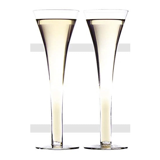 Flute Prosecco Glasses Set of 2 by AddCore