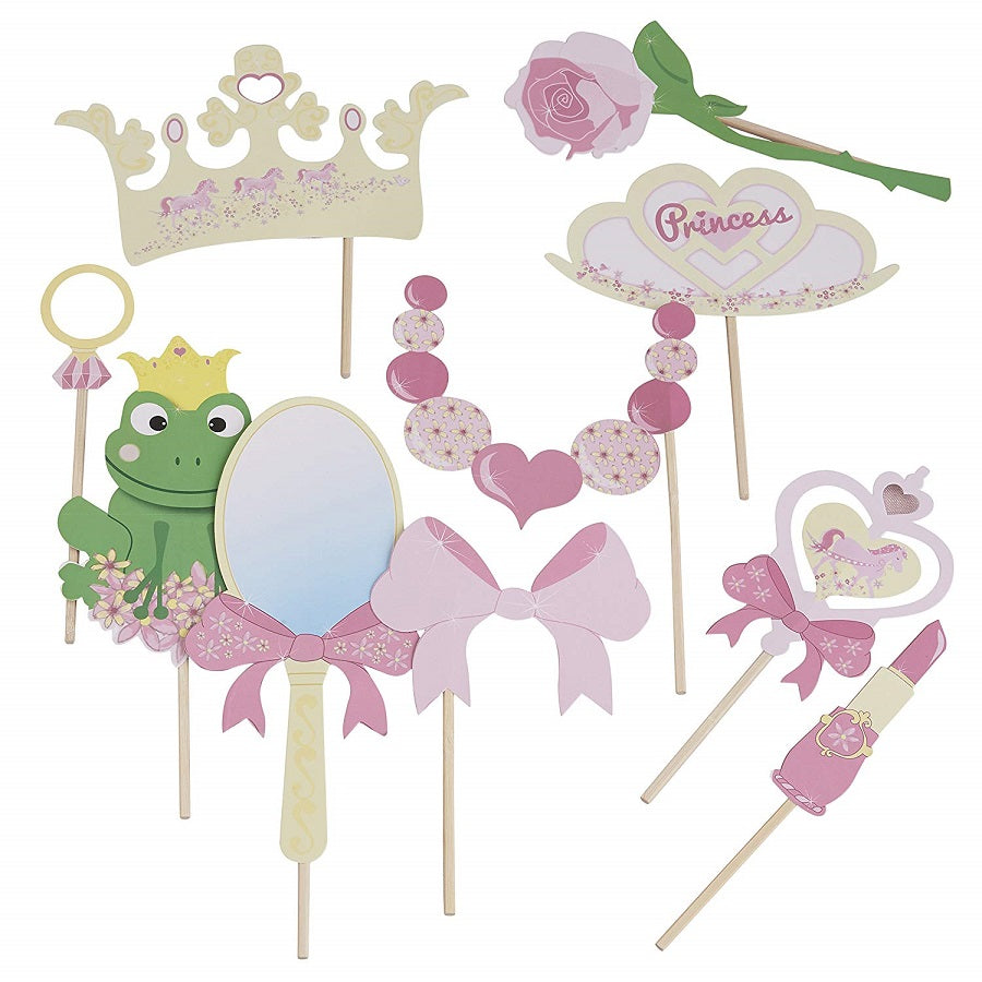 Princess Party Photo Booth Props by Ginger Ray Full Set