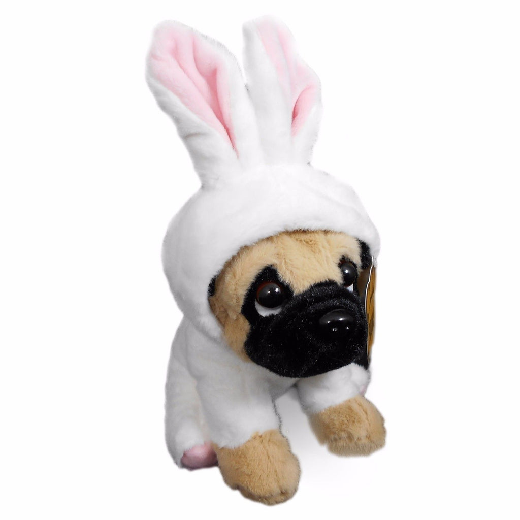 "Pug Dog 8"" Plush Toy in Costume"