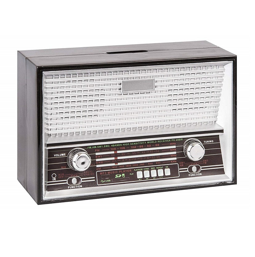 Retro Radio Money Bank by OOTB Black