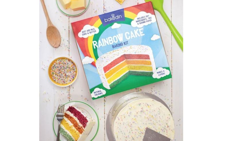 Rainbow Cake Baking Kit - Make Your Own - 1000g - Serve 12