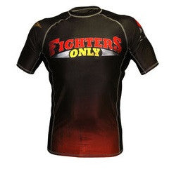 Fighters Only Men's Rash Guard Short Sleeve Top -