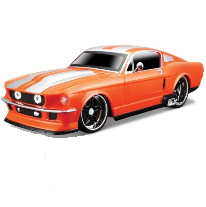 Street Series 1967 Ford Mustang GT Orange 1:24 Remote Control Car by Maisto