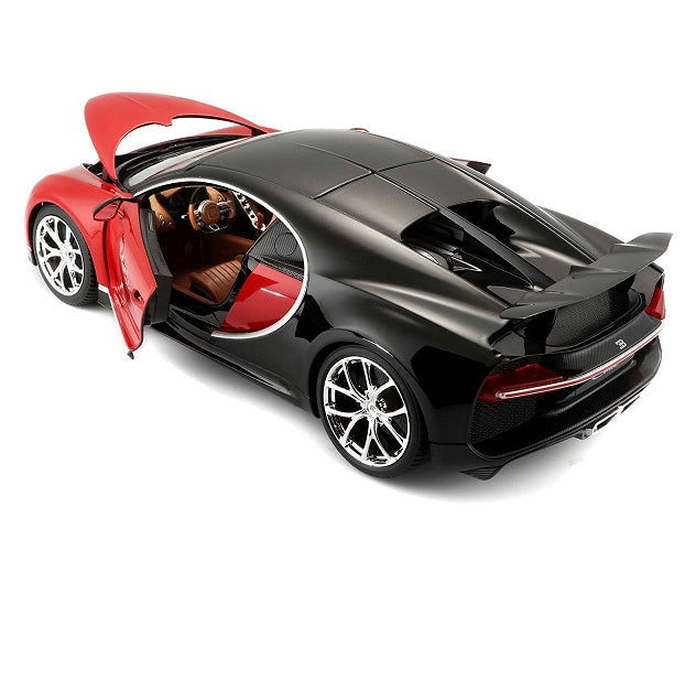 Red Bugatti Chiron 1:18 Scale Diecast Car