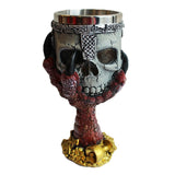 Knight's Skull in Dragon's Claw Goblet (Red)