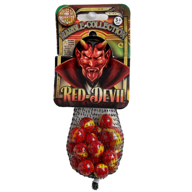 House of Marbles Red Devil Net Bag of Marbles