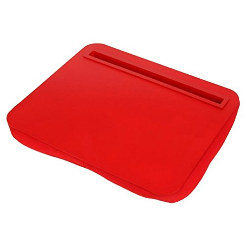 Red iBed Lap Desk Cushioned Tablet Stand