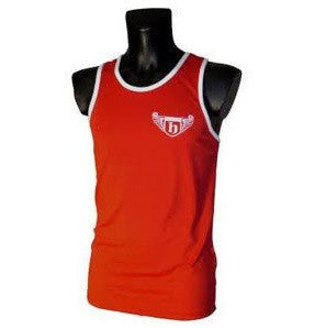 Hatton Boxing Polyester Boxing Club Vest - Red/White