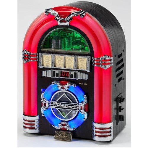 Steepletone JIVE ROCK SIXTY Table Top JUKEBOX Bluetooth CD MP3 Black